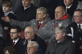 Arsène Wenger en tribunes dans le match perdu contre Watford