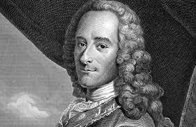 Voltaire, peu convaincu par l'optimisme de Leibniz