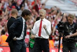 La joie d'Arsène Wenger